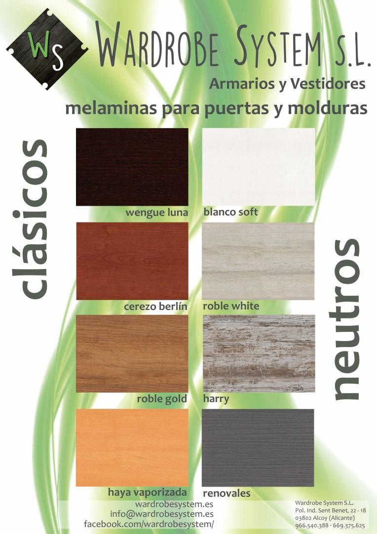 Extras | Catálogo Colores | Armarios y vestidores a medida ...